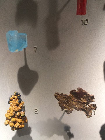 Specimen Arrangement with Light Blue Stone
