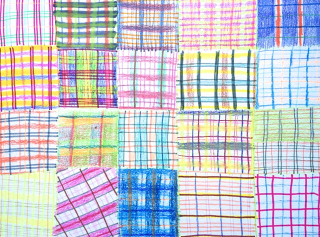 Plaid Drawing