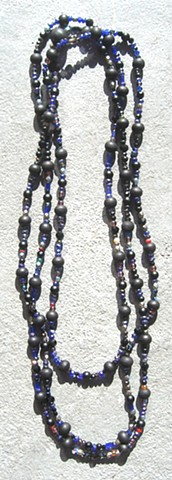 Black & blue themed Buddha beads