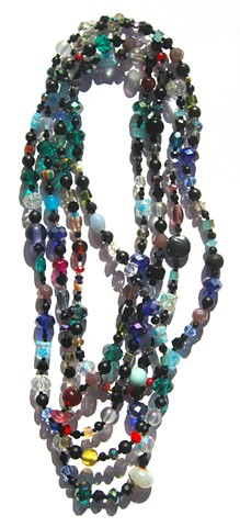 Multicolor & black wrap necklace