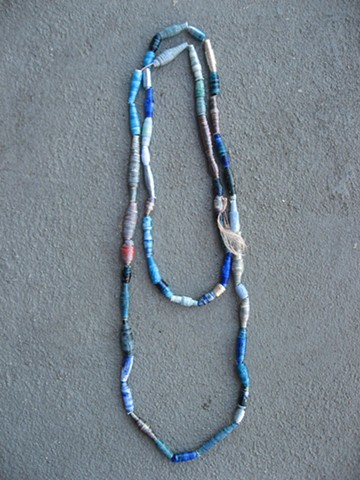 Blues- handmade paper beads