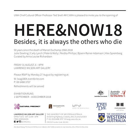 HERE&NOW18: Besides it is always the others who die