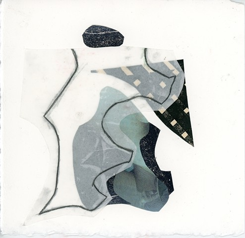 Collage work from Oxbow with Jeanine Coupe-Ryding