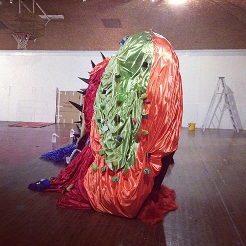 Installation art, Big gay beast, satin playhouse