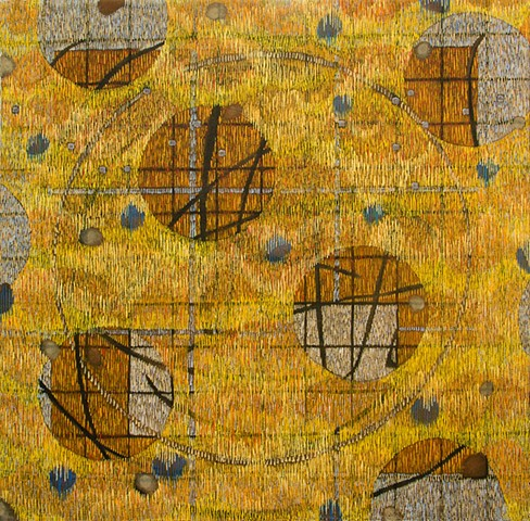 Yellow, abstract painting