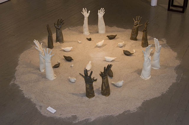 Hands for Humanity Install