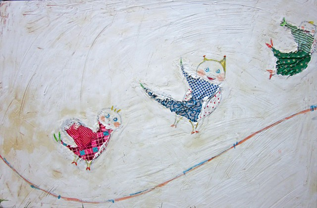 Come Fly with Me. Watercolor fresco. Painting. o*Live. o-Live. oliveland
