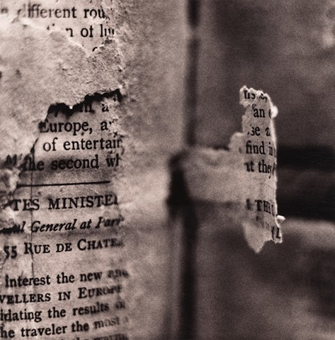 Damaged book spine