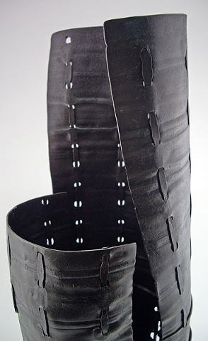 Stitched Cocoon Vessel, Detail