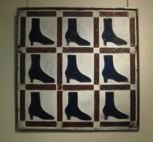 Practically Patriotic Shoe Quilt
