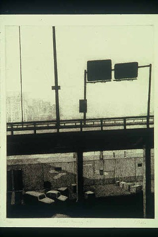 Elevated Freeway, Fulton Street NYC