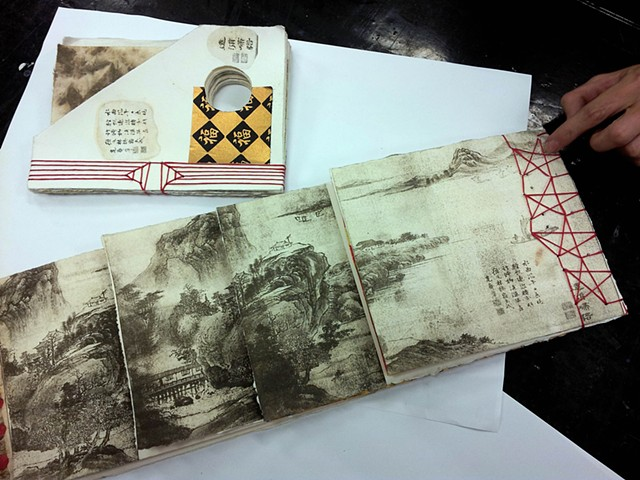 Book Arts Project with monprinting