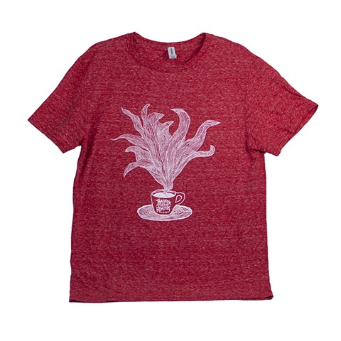 Red T-shirt with Coffee Illustration - Java House