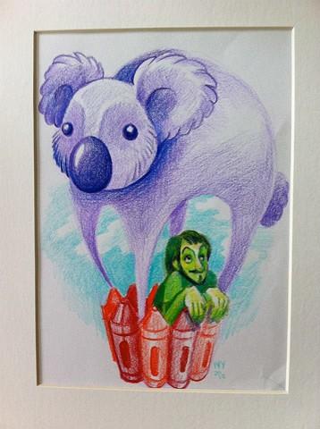 Illustration for band Velvet Crayon