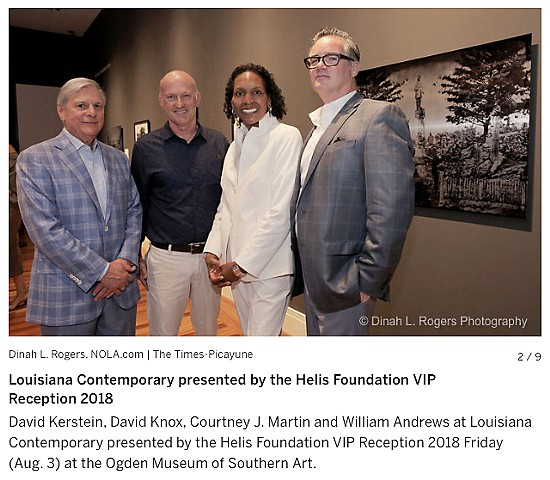 Receiving the 2018 Helis Foundation Award at the Louisiana Contemporary opening, Ogden Museum of Southern Art. On my left is Courtney J. Martin, Chief Curator at the Dia Art Foundation, and curator for the 2018 Louisiana Contemporary exhibit.