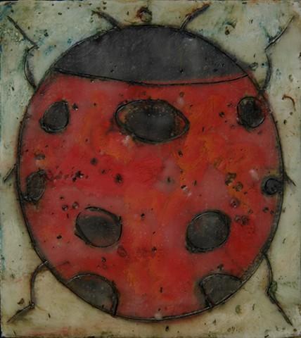 Ladybug Encaustic Zoo Series