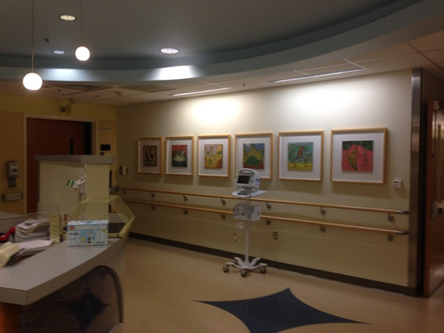 Levine Children's Hospital Encaustics