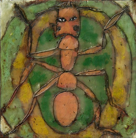 Ant Encaustic Zoo Series
