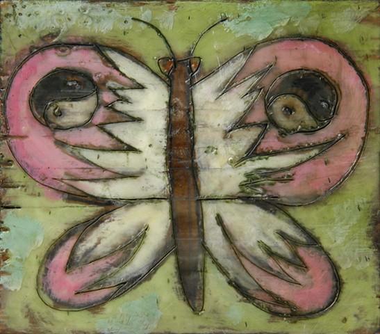 Butterfly Encaustic Zoo Series