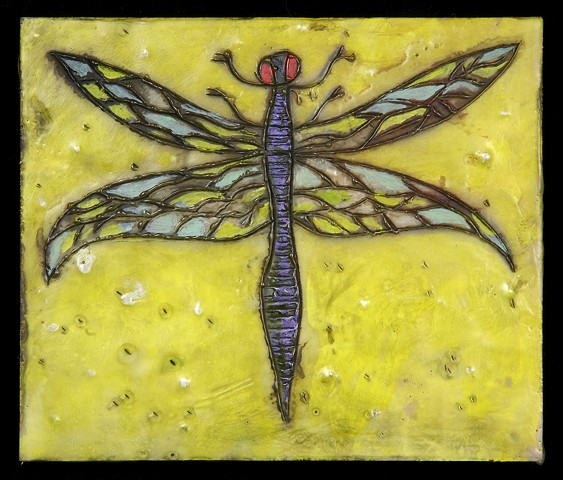Dragonfly Encaustic Zoo Series