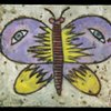 Butterfly with Eyes Encaustic Zoo Series
