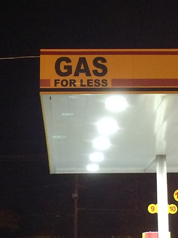 gas for less, quicky's on franklin st.