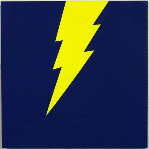 lightning bolt hard edge painting art