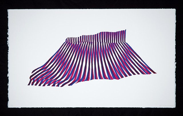 screen print from moire series