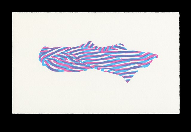 Janet Marcavage screenprint from Moire Series