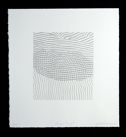 Janet Marcavage, Warp and Weft I, screenprint