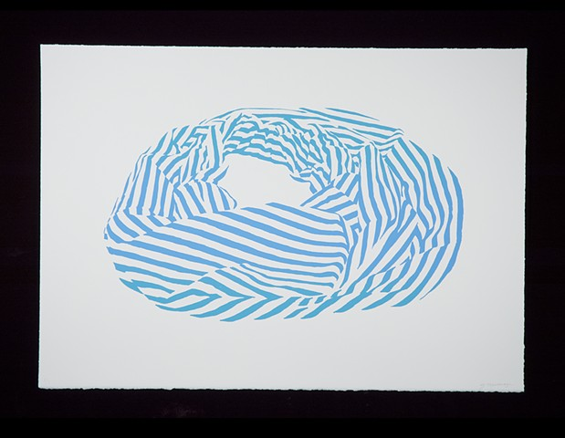 Janet Marcavage, Blue, screenprint on rag paper, 20 x 28.5""