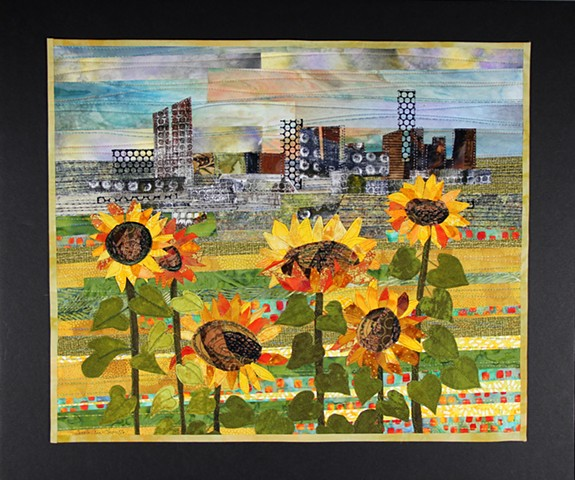 City Sunflowers - SOLD