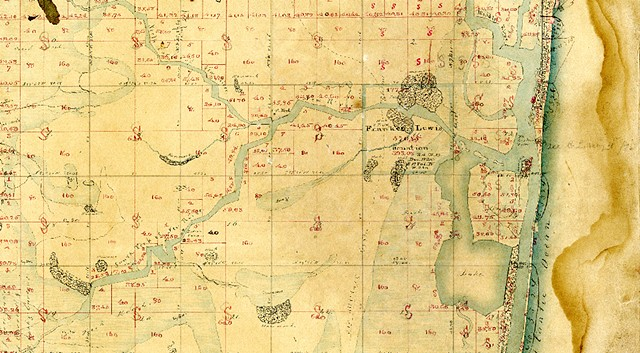 New River Map of Frankee Lewis Plantation 1788