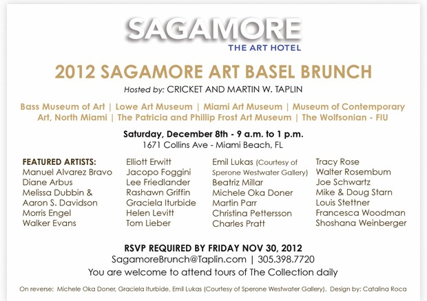 Art Basel Sagamore Hotel Invitation