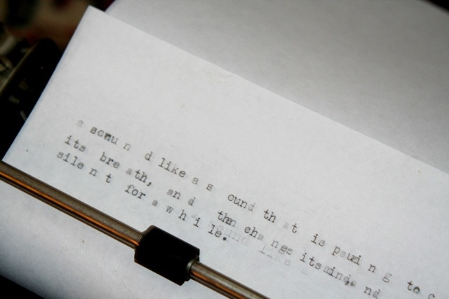 373 sounds for anne sexton or god is in your typewriter