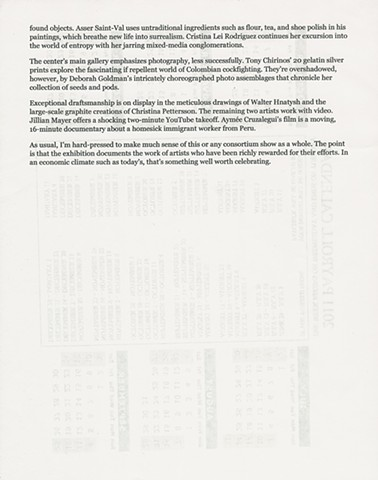 Fellowship Exhibition Review, Page 2