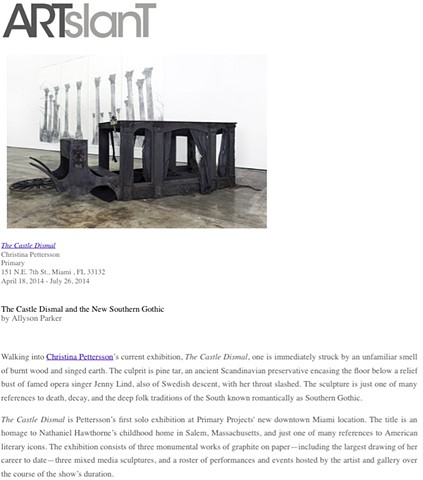 ArtSlant Review of The Castle Dismal Solo Show at Primary Projects