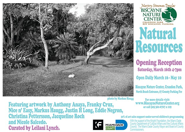 Group Exhibition for former artists-in-residence at the Marjory Stoneman Douglas Biscayne Nature Center