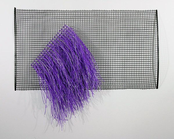 purple plastic wall hanging by Jose Santiago Perez