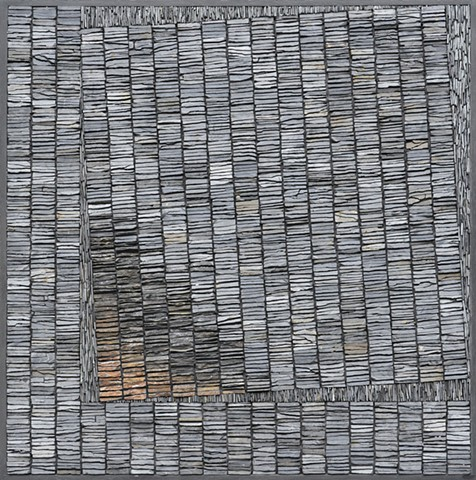 SCOTTISH SLATE MOSAIC WITH A GEOLOGICAL CONTEXT.
