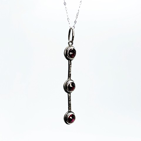 Simulated Garnet Necklace