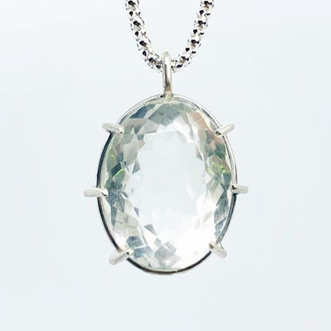 Large Oval Quartz Necklace