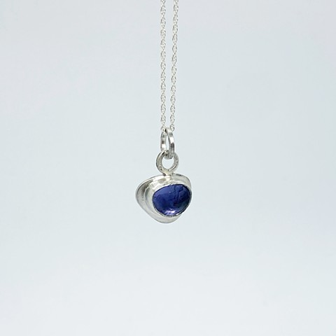 Rose Cut Iolite Necklace