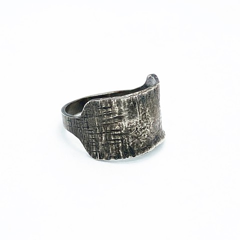 Reticulated Sterling Silver Cigar Band