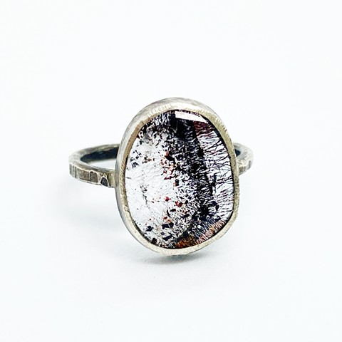 Lepidocrocite and Sterling Silver RIng