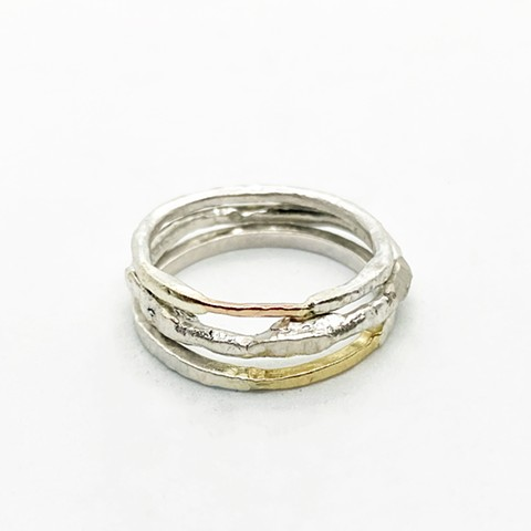 Gold and Silver Stacking Rings