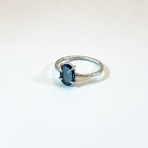 Rose Cut London Blue Topaz Ring
