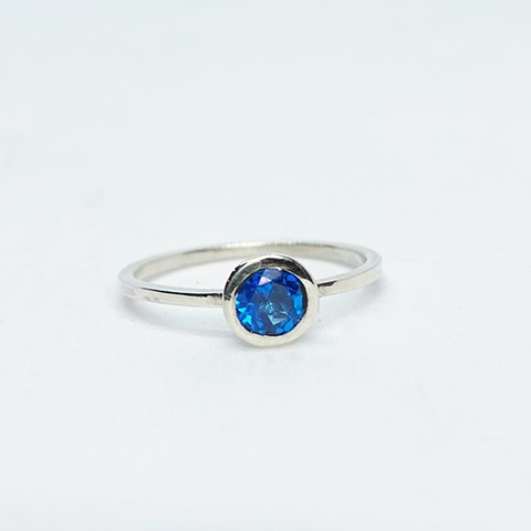 Ice Blue Topaz Ring