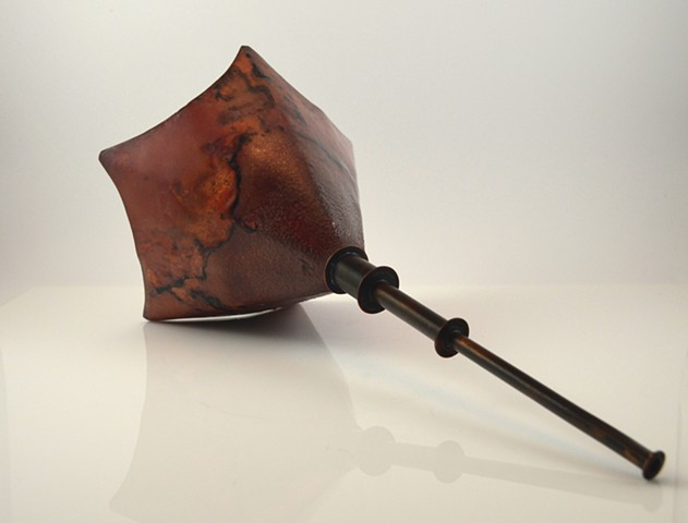 Enameled Copper sculpture by Erin Rice