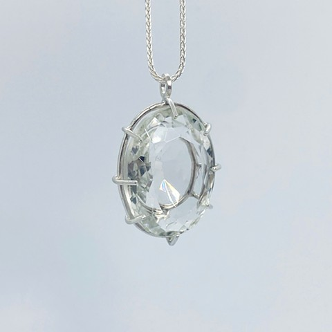 Quartz and sterling silver necklace